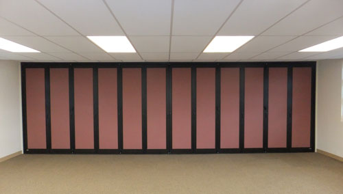 panel room divider closed